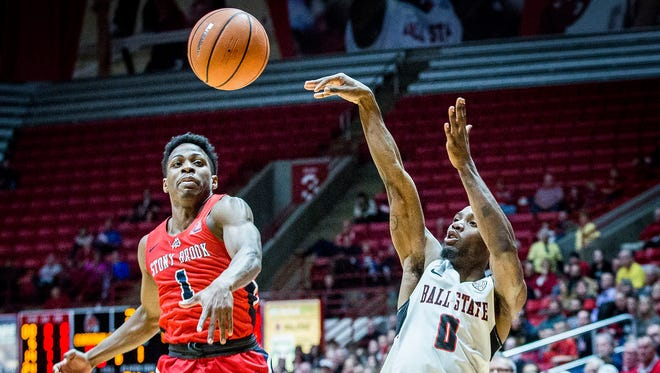Francis Kiapway will likely end his career atop Ball State's all-time 3-point leaderboard, but he is in a shooting slump right now.