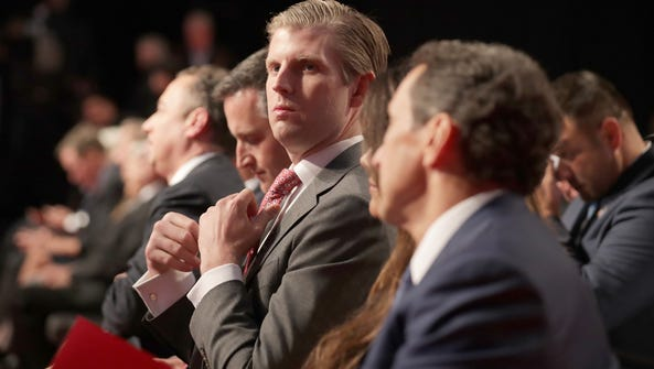 Eric Trump, son of Republican presidential nominee