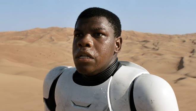 John Boyega, and also our faces last night waiting for the 'Force Awakens' trailer to arrive.