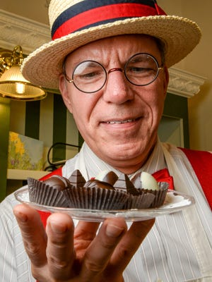 David Saidat, owner of the CocoBon Chocolatier in downtown Anderson made a variety of solar eclipse chocolate truffles this month before the Monday, August 21 event.