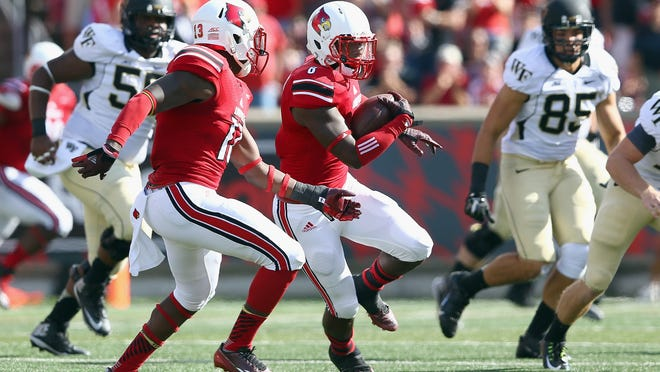 Gerod Holliman returns an interception Sept. 27 against Wake Forest.