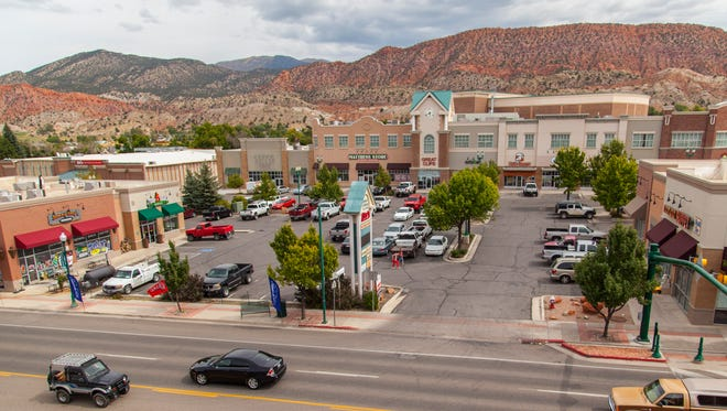 A parking lot located between Center and 200 N. on Cedar City's Main St.