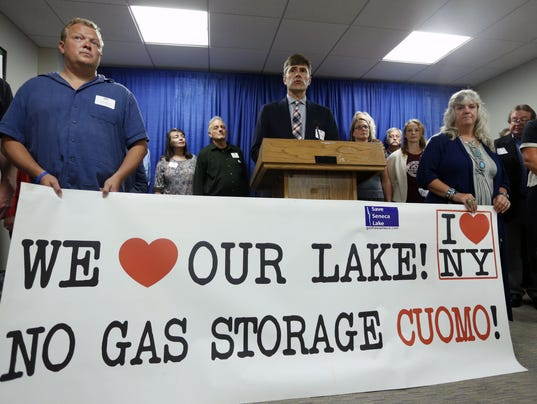 Gas storage protest