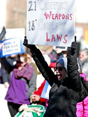 Hundreds gather during March For Our Lives, a rally to end gun violence, in York City, Saturday, March 24, 2018. Dawn J. Sagert photo