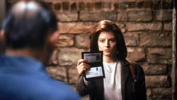 "Clarice Starling (Jodie Foster) introduces herself to Hannibal Lecter (Anthony Hopkins) in ""The Silence of the Lambs."""