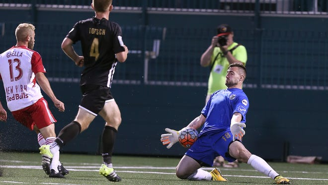 Rhinos keeper Tomas Gomez, one of 10 returnees for this season, was the USL's Golden Gloves winner last year with the league's lowest goals-against average.