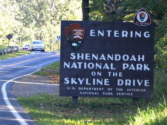 Entrance to the Shenandoah National Park on Skyline