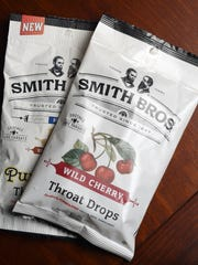 Wild cherry and simply honey throat drops from Smith Brothers which is now based in Chicago.