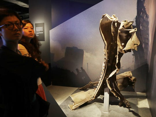 Pieces of wreckage from Ground Zero are displayed throughout the Tribute Museum.