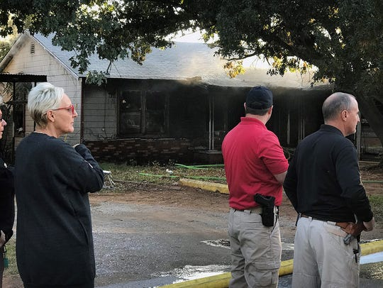 A structure fire in the 500 block of West Alameda in
