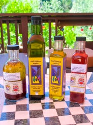 A variety of products produced at Fattoria Muia.