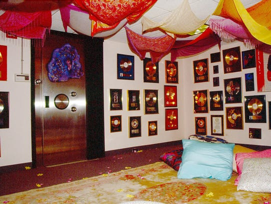 "This image shows Prince's ""Foo Foo Room"" which contained"