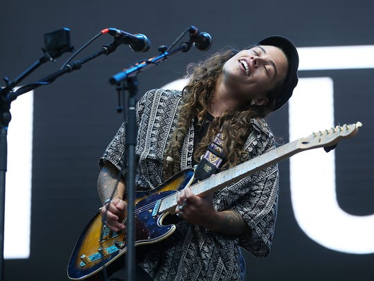 Tash Sultana performs during Splendour in the Grass
