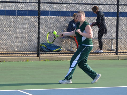 Pennfield's Morgan Allen plays at No. 1 singles during