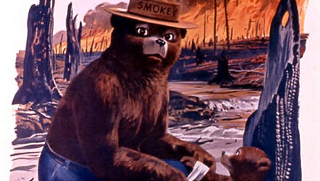 This poster from the U.S. Agriculture Dept. website shows Smokey Bear in a 1960s-era poster. Smokey turns 70 on Aug. 9.