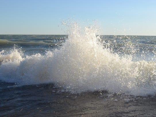 A lakeshore flood advisory and beach hazards statement