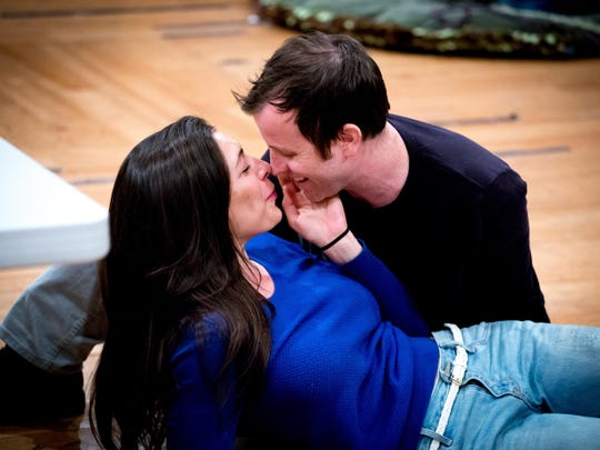 Abbi Hawk (Hermia) and Chris Johnston (Lysander) in
