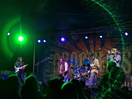 Stranger performs during the 2014 Groovefest Music and Art Festival.