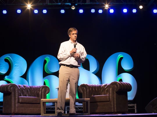 Launch Tennessee CEO Charlie Brock addresses the crowd during last week's 36|86 conference.
