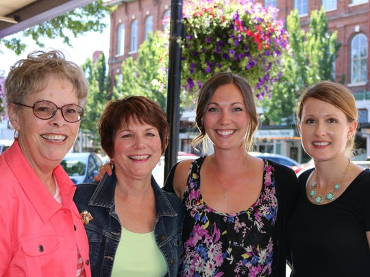 From left, volunteer Lynnea Lyman, Sue Schumacher, Lily Westlund and Julie Robertson of the American Cancer Society's Cancer Resource Center at Salem Hospital were touting benefits of the center for cancer patients.