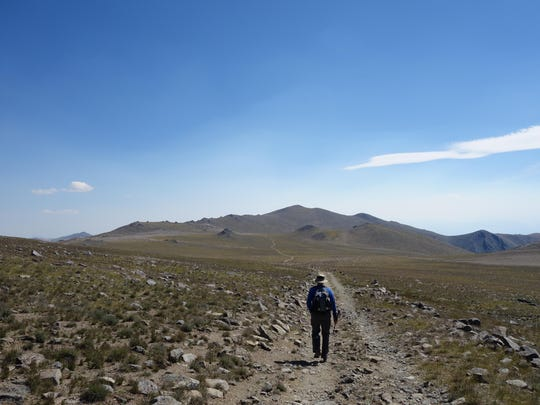 The hike to White Mountain Peak goes through barren and dry terrain.