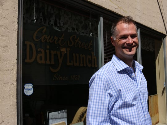 Kyle Sexton, of Co.W, the co-working space that will open Sept. 1 at the Reed Opera House.