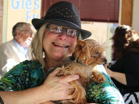 Terri Ellen and her Yorkie, Tillie, will be welcoming pet owners to two opportunities to have cats, dogs and other small animals sit for a photo session with Santa Claus at Nature's Pet Market.