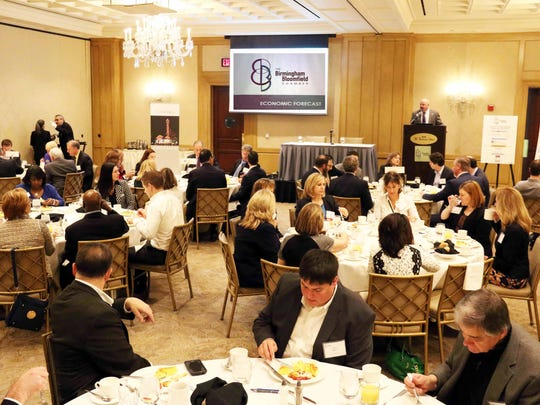 The Birmingham Bloomfield Chamber Economic Forecast Breakfast was held Tuesday before sold-out crowd at the Townsend Hotel.