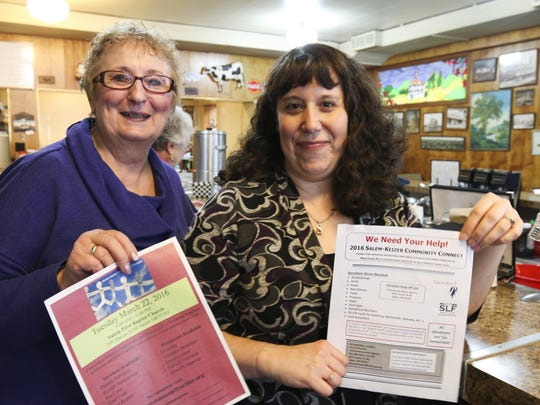 Arlene Janssens (left) and Amy Schroeder are looking for volunteers and donations for the upcoming Salem-Keizer Community Connect resource fair for homeless people and those at risk of being homeless.
