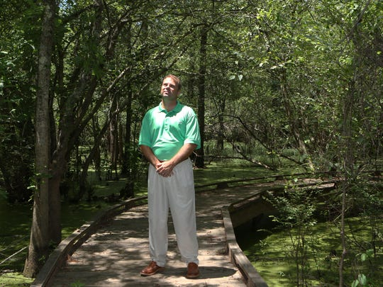Ouachita Green Coordinator Stuart Hodnett at Black Bayou Lake National Wildlife Refuge.