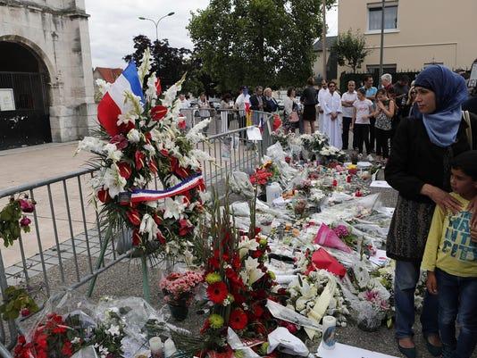 APTOPIX France Church Attack