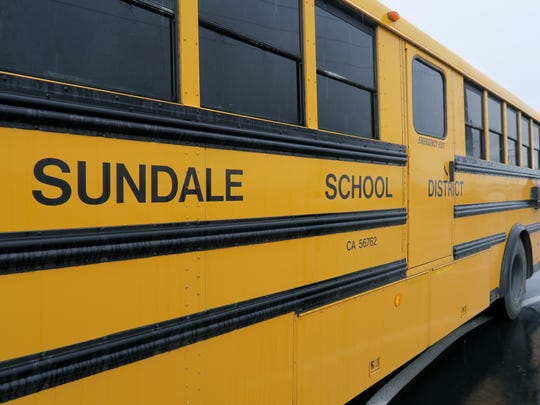 Sundale Union Elementary School District school bus.