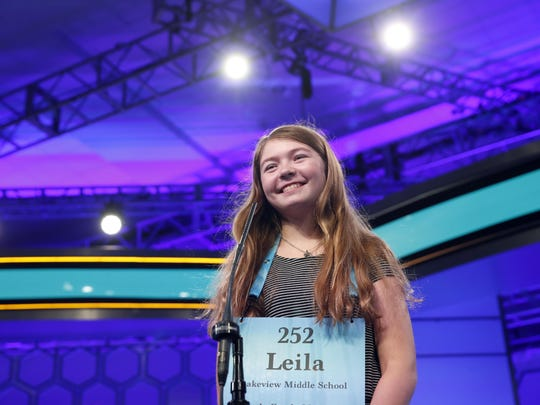 Leila Overbeek, 12, from Battle Creek smiles before