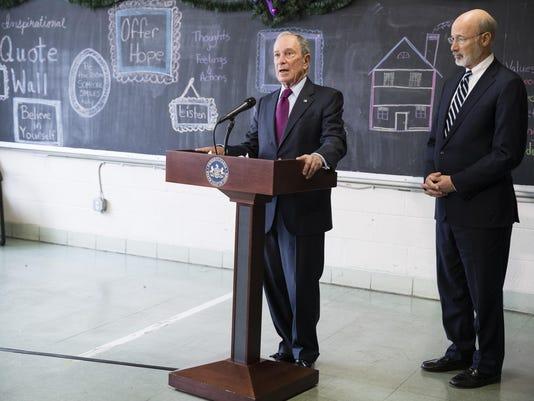 Michael Bloomberg, Tom Wolf