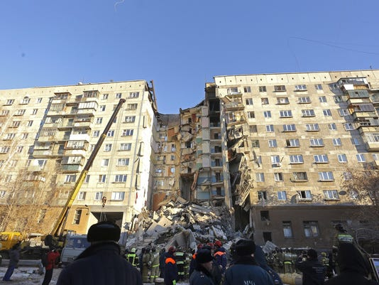 APTOPIX Russia Building Collapse