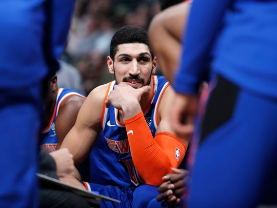 Knicks center Enes Kanter.