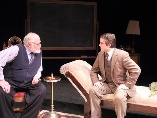 Riverwalk's Michael Hayes as Sigmund Freud and Brian DeVries as C.S. Lewis.