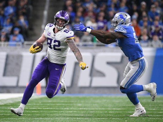 Report: Kyle Rudolph won't take pay cut to stay with Minnesota Vikings