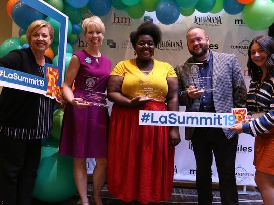 "Social media influencer Jada Durden (center) was among three locals named a ""True Louisiana Ambassador"" during Lt. Gov. Billy Nungesser's annual Tourism Summit on Aug. 29."