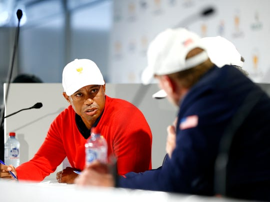 Tiger Woods picks himself, Justin Thomas to start Round 1 Four-ball Matches at Presidents Cup