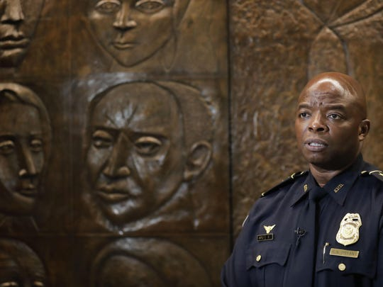 Rodney Bryant, interim Atlanta police chief, speaks to the Associated Press in Atlanta on June 18, 2020. On Saturday June 13, former Atlanta Police Chief Erika Shields resigned after an officer fatally shot Rayshard Brooks after a fight in the parking lot of a Wendy's restaurant.