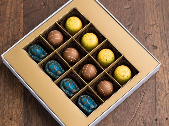 Hand-made chocolates available at Ghyslain Bistros in NuLu and Westport Village have you covered.