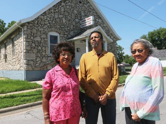 Betty Ranson, Denny Whayne and Shirley Blakley are