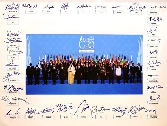 EPA TURKEY G20 SUMMIT POL TREATIES & ORGANISATIONS DIPLOMACY TUR