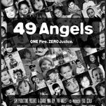 "The poster for the documentary ""49 Angels."""
