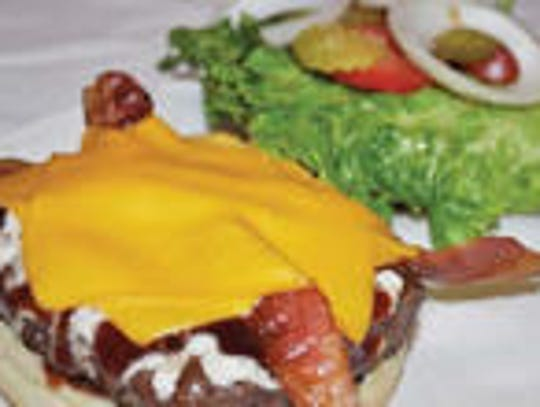 The Zesty Ranch Burger from Sports Page Grill in Ankeny.