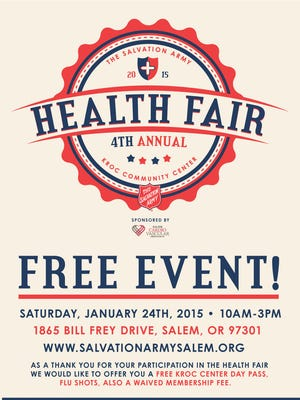 Kroc Center health fair flyer.