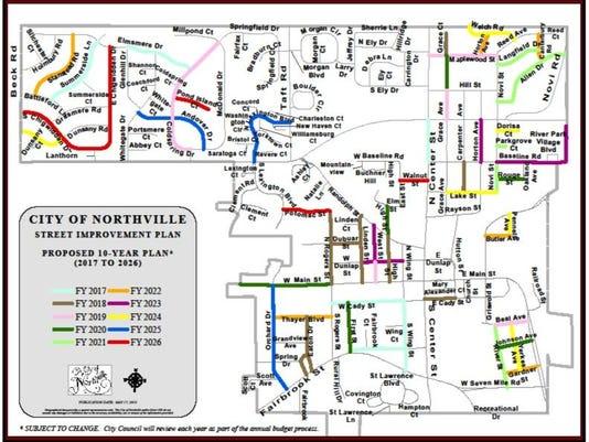 Northville street map