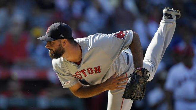 Brandon Workman will serve as Red Sox closer to start the 2020 season. (AP Photo/Mark J. Terrill) ORG XMIT: ANS109