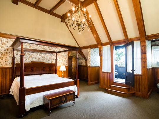 Stay in the Tower Suite, one of Belhurst's 14 guest rooms in the historic Castle Chambers.